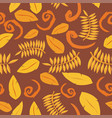 tropical background with leaves seamless floral vector image vector image