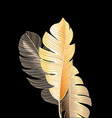 tropical miracle autumn palm leaves vector image vector image
