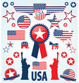 Usa design elements vector image vector image