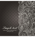 wedding invitation with lace paisley pattern vector image