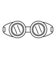welding glasses icon outline style vector image vector image