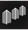 White three towering building on black vector image vector image
