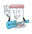 with guitar cabinet character cartoon style vector image vector image