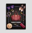 women accessories poster vector image vector image