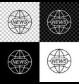 world and global news concept icon isolated on vector image vector image