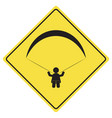 paragliding sign symbol vector image
