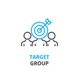 target group concept outline icon linear sign vector image