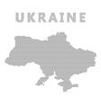 Ukraine map with gray dot vector image
