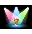 A fox at the stage with spotlights vector image vector image