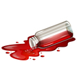 A spilled blood sample vector image