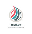 abstract business logo template design colored vector image vector image
