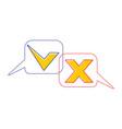 agree disagree bubble talk symbol logo