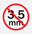 audio jack 35mm in ban sign icon vector image