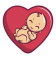 baby love icon cartoon style vector image