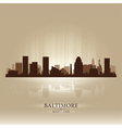 Baltimore Maryland skyline city silhouette vector image vector image