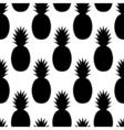 Black Pineapples Pattern vector image