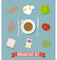 Breakfast small set vector image vector image