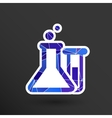 Chemical flask icon laboratory glass beaker lab vector image vector image