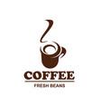 coffe cup icon for coffeeshop cafe design vector image vector image