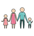 color crayon silhouette of pictogram parents with vector image vector image