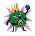 coronavirus concept scary virus monster holding vector image vector image