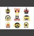 craft beer set of logo design templates vector image vector image