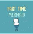 cute white cat mermaid under water vector image vector image