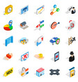 development interface icons set isometric style vector image vector image