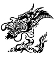 dragon head black and white vector image vector image