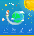 earth infographic in universe concept vector image vector image