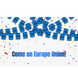 europe union garland flag with confetti on vector image