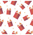 festive presents box triangle shape pattern vector image vector image