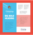 files copy business company poster template with vector image vector image