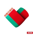 Flag icon in the form of heart I love Belorussia vector image vector image