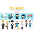 flat professions set vector image