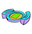 football soccer stadium icon icon cartoon vector image vector image