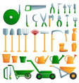 gardening tools icons set cartoon style vector image