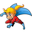 girl female superhero cartoon anime manga clipart vector image vector image