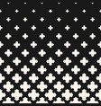halftone pattern gradient transition effect cross vector image vector image