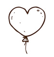 hand drawn love heart balloon vector image vector image