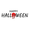 happy halloween text black scary cartoon design vector image