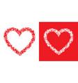 heart grunge frame set valentine scribble vector image