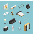 Home Interior Objects Isometric Icons Set vector image vector image