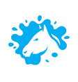 horse milk sign vector image vector image