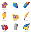 Icons for office vector image
