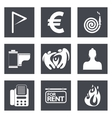 Icons for Web Design set 18 vector image vector image