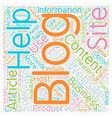 Increase Your Business With A Blog text background vector image vector image