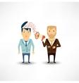 journalist tells man in news speaker vector image vector image