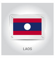 laos flags design vector image