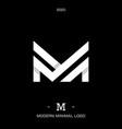 letter type m elegant identity design vector image vector image